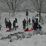 sledding in Ft. Tryon