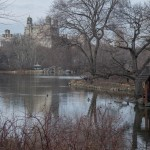 CENTRAL PARK BOATHOUSE LAKE.  EARLY SPRING